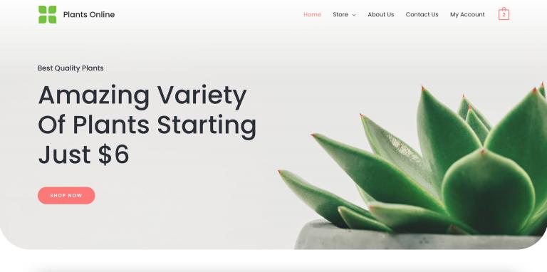 Plants Online Demo Website