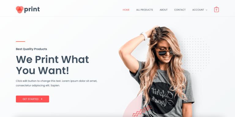 Print Shop Demo Website