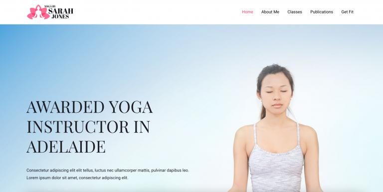 Yoga Demo Website